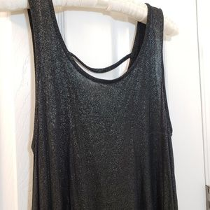 Juicy Couture Sparkly Black Tank Top Glitter